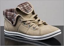 640765747700 Dámské kotníkové tenisky Samlux. Netradiční tenisky s přeloženým jazykem.  Pohodlná a stylová podzimní obuv pro dámy.